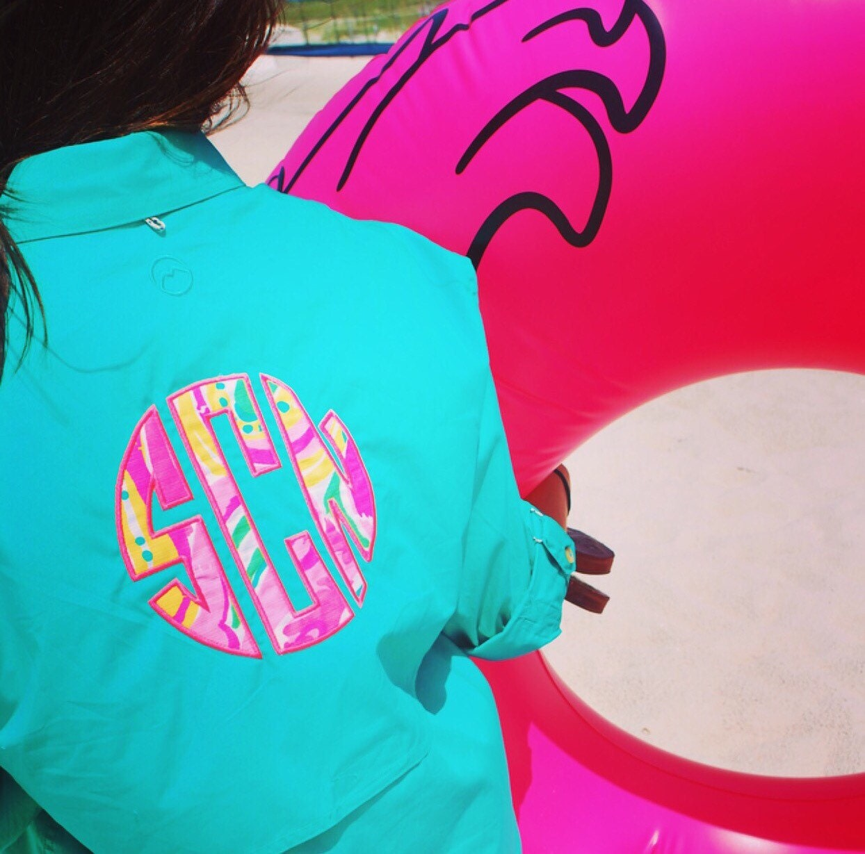 Lilly pulitzer monogrammed magellan fishing shirt cover up for Magellan women s fishing shirts