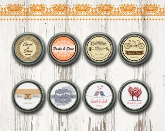 Unique Wedding Favors, Solid Perfume in a Travel Tin, Personalized Unique Favors, Bridal shower, Solid Perfume Favors