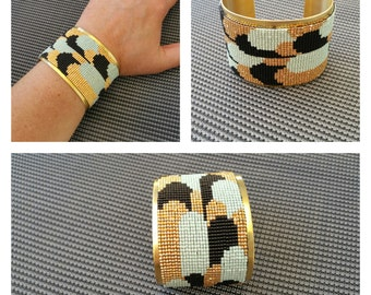 Cufflinks art deco, width 5 cm.