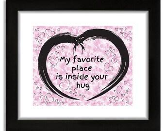 Heart and hug