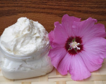 Organic Whipped Body Butter- Natural Body Butter-Shea Butter- Handmade Lotion-Essential Oils