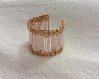 Pink gold cuff  bracelet new