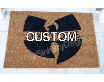 Custom/ Wu Tang inspired Door Mat  / Personalized Mat / Wu-Tang Clan / Hip Hop / Doormat / Must Have / WuTang / Wu Mat / Wedding Gift