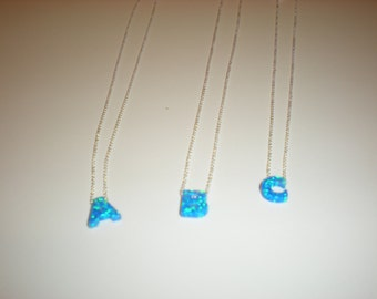 OPAL INITIAL NECKLACES