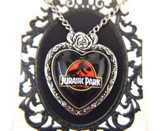 Jurassic Park - heart cameo necklace