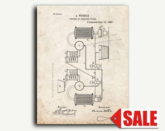 Patent Print - Process Of Treating Wine Patent Wall Art Poster