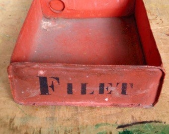 Vintage French Oil Can Tool Bin • 25% OFF EVERYTHING! promo code: GRATITUDE