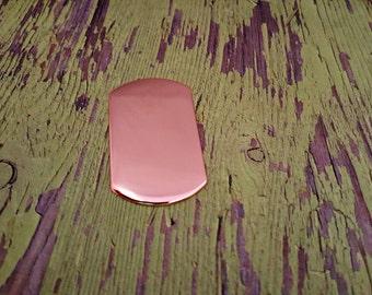 Copper Dog Tag Stamping Blanks - 18 Gauge Copper Blanks
