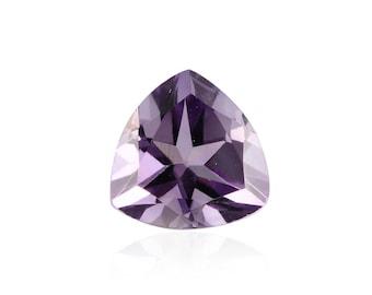African Amethyst Loose Gemstone Trillion Cut 1A Quality 7mm TGW 0.90 cts.