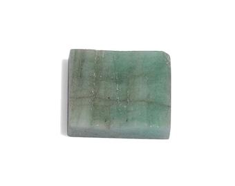 Brazilian Emerald Baguette Rough Cut Loose Gemstone 1A Quality 11x9mm TGW 4.65 cts.