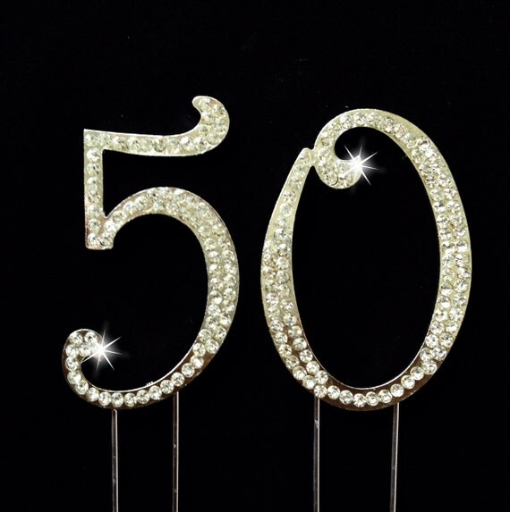 50th Birthday Cake Topper - 50th Anniversary Cake Topper - 2.75 Inches ...