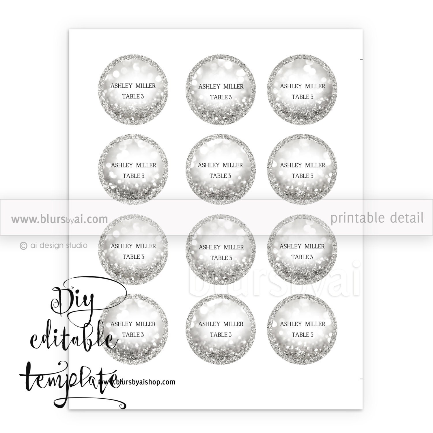 This is a photo of Sweet Printable Escort Cards