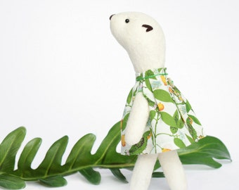 Flinga - tropical. My Woodland Friends, soft sculpture.