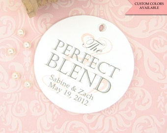 The perfect blend tags (30) - Wedding favor tag - Coffee tags - Wedding gift tags - Wedding tags