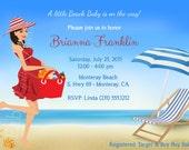 beach baby shower invitation beach party baby shower invitation
