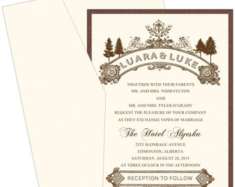 Woodsy Wedding Invitation/DEPOSIT