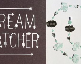 paper cloud garland: dreamcatcher