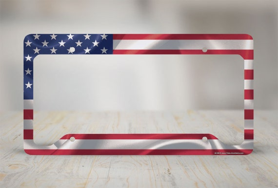 American Flag License Plate Frame American Flag By