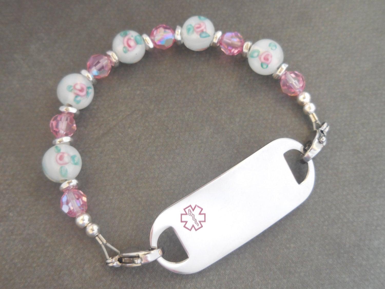 id bracelet allergy bracelet peanut by designermedicalid