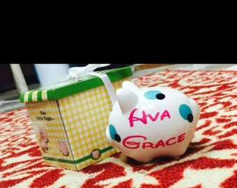 Personalized Small Piggy Banks