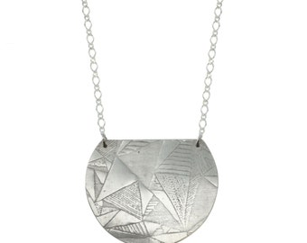 Triangle/Swirl Double Sided Necklace