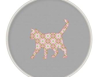 Cat cross stitch pattern, ornament cat, Сross stitch pattern PDF / JPEG Instant Download,  MCS124