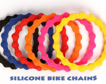 Bike Chain Bracelet, Silicone Motorcycle or Bike Bracelet