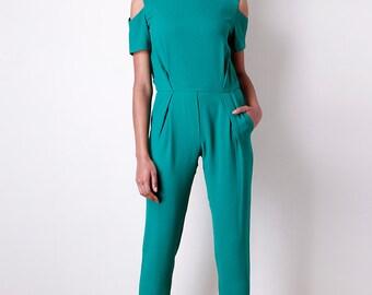 Liquorish Green Jumpsuit