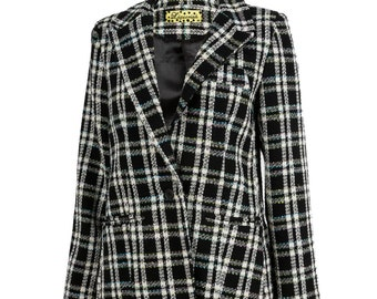 Liquorish Black And White Check Jacket