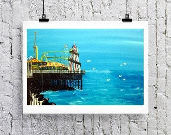 Brighton Pier, Palace Pier  Greetings card/Art print