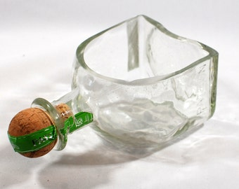 Patron Dish or Bowl - Handcrafted from Recycled Liquor Bottle
