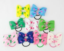 Ponytail for Kids, Girls Ponytail Holder, Kids Ponytail Hair Holder, Polo Prints Ribbon Pony Tail Holder- Set of 2 - 9 Sets