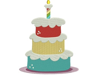 Layered Cake Filled Machine Embroidery Digitized Design Pattern  - Instant Download - 4x4 , 5x7, 6x10