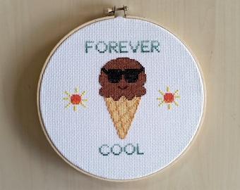 Forever Cool Ice Cream Cross Stitch