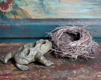Vintage Cast Iron Figural Flower Frog