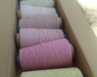 SAORI cotton earth dyed yarn cone set from Japan