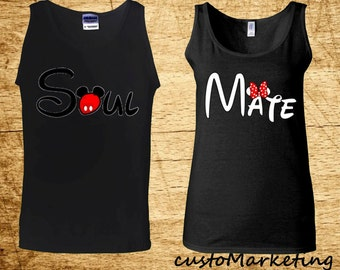 Couple Tank Top Soul Mate Matching Couple Tank Top Soul Mate Valentines Day Gift Boyfriend Girlfriend All Sizes