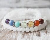 Chakra Bracelet 108 Mala Wrap Bracelet  Meditation Jewelry Energy Bracelet Gemstone Wrap Bracelet Yoga Bracelet