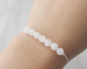 Delicate Moonstone Bracelet Healing Bracelet Gemstone Jewelry