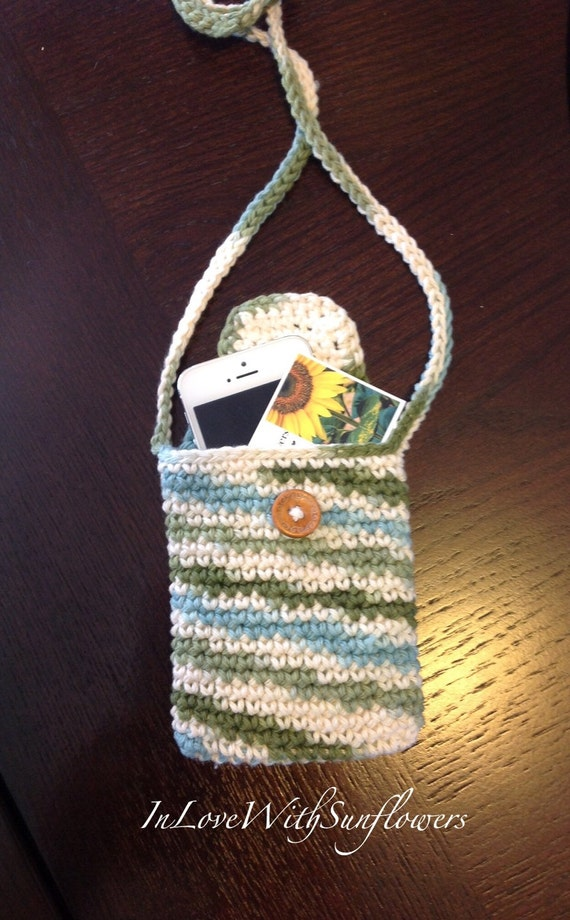 Crochet Purse / Cross body bag / Cell phone purse / crossbody purse ...