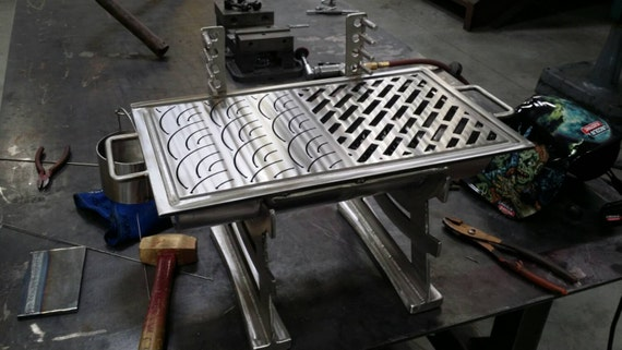 Japanese hibachi style all stainless by mortonsmetalart