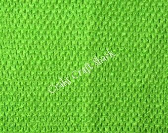 8 Inch Lined Apple Green Crochet Tutu Top / Tube Top / Dress Top