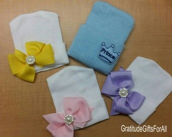 Quadruplets! 4! Baby Hospital Hats. Newborn Hats for Photos, Hospital Stay &More