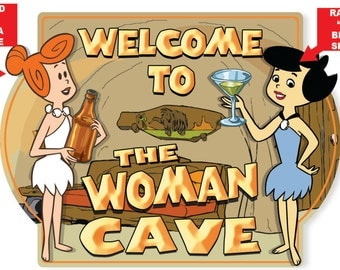 Woman Cave Hardboard Wall Sign