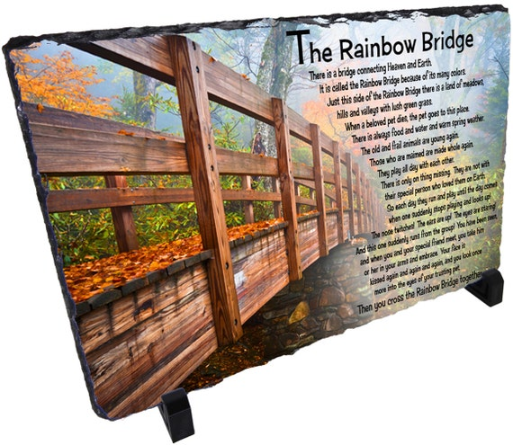 Rainbow Bridge Memorial Stone : Rainbow bridge pet memorial stone decorative