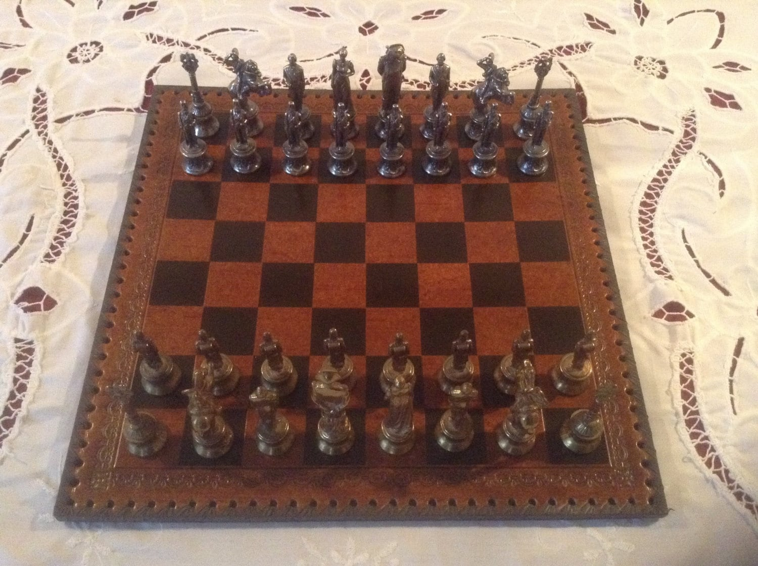 Stunning vintage chess set ornate antique by scottsfrenchtreasure - Ornate chess sets ...