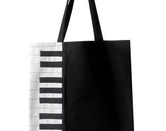 Sac tote bag piano