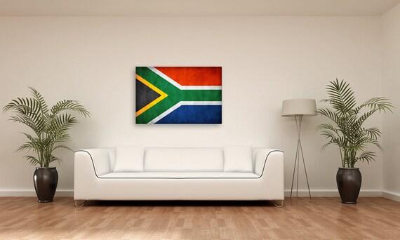 Vintage South African Flag Room Decor Gift Ideas Fine Art