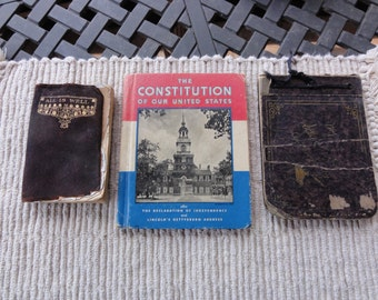 Lot of 6 vintage books 1909-1946 The Constitution of our United States, Stories of Stockgrange, Friendly Road