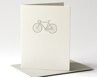 Bicycle letterpress card - handmade greeting cards